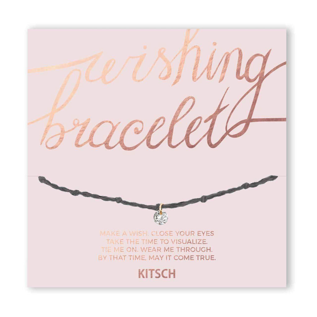 CZ Wishing Bracelet Be Bold -Grey - KITSCH