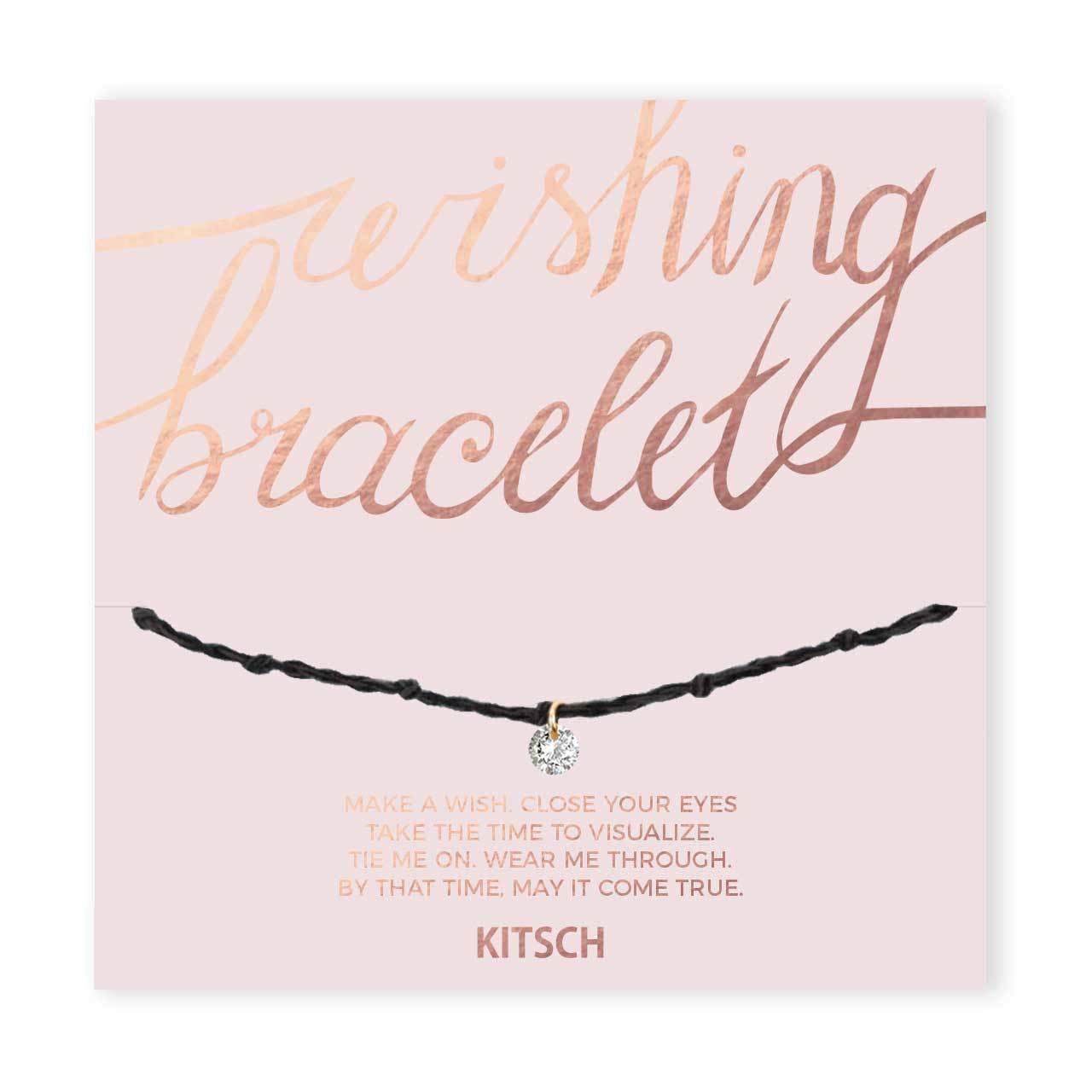 CZ Wishing Bracelet Black - Shine Bright - KITSCH