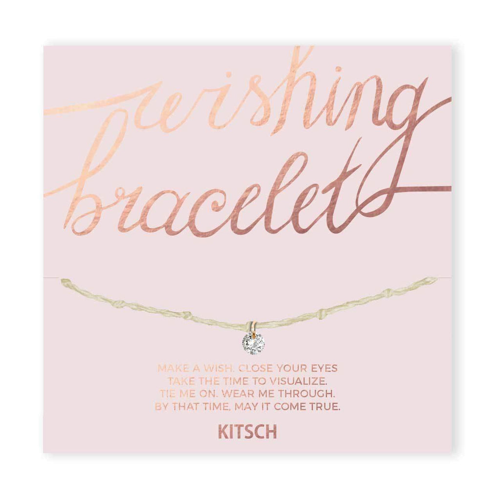 CZ Wishing Bracelet Cream- Happiness Looks Good On You - KITSCH