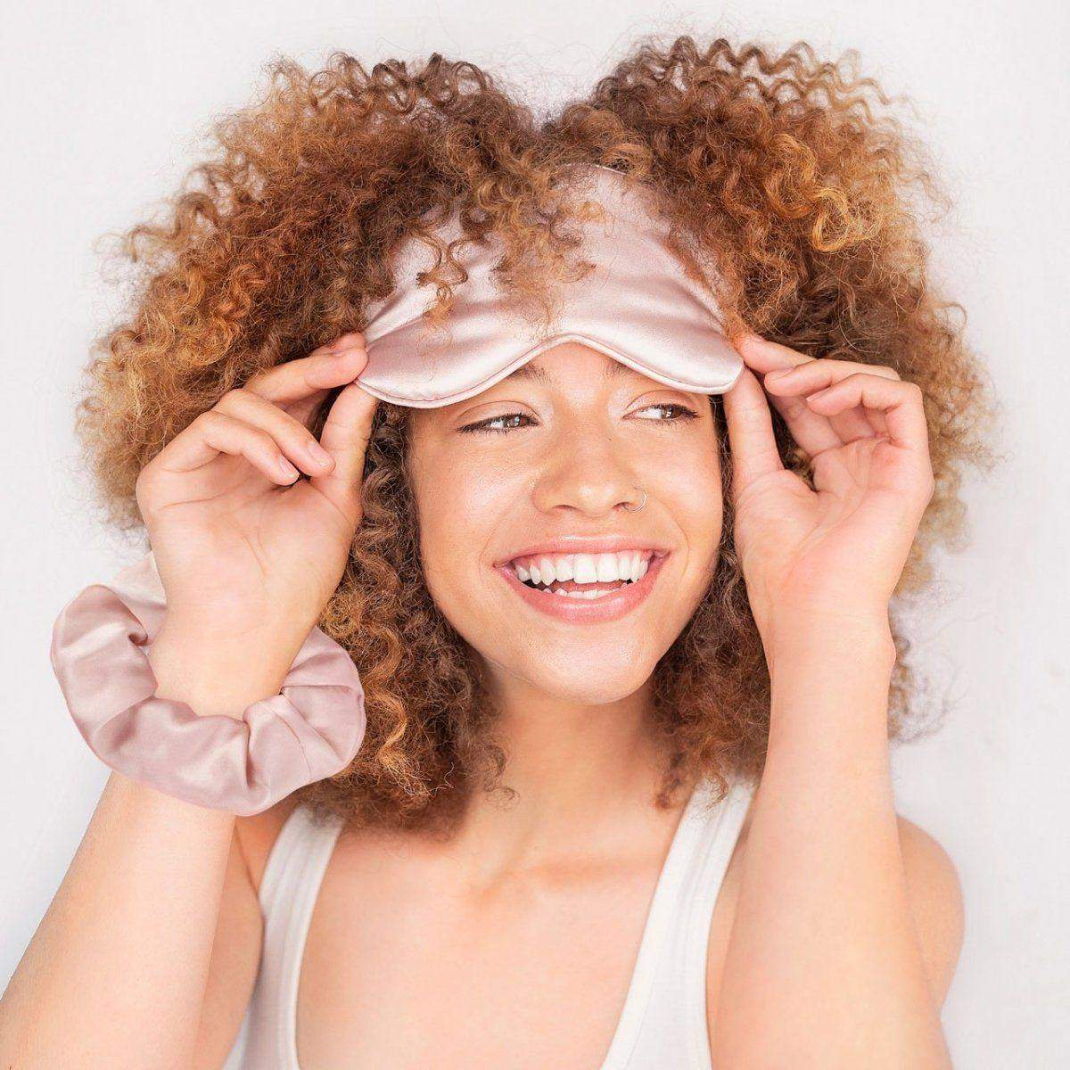 Eye Mask & Scrunchie Set - Blush - KITSCH