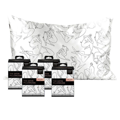 Body Positive Nude Figure Drawing 4pk Pillowcase Bundle - Standard