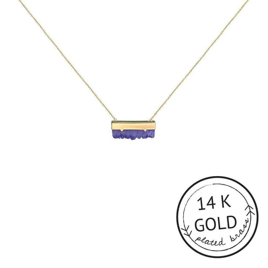 KITSCH Jewelry Amethyst Druzy Guiding Gems Necklace