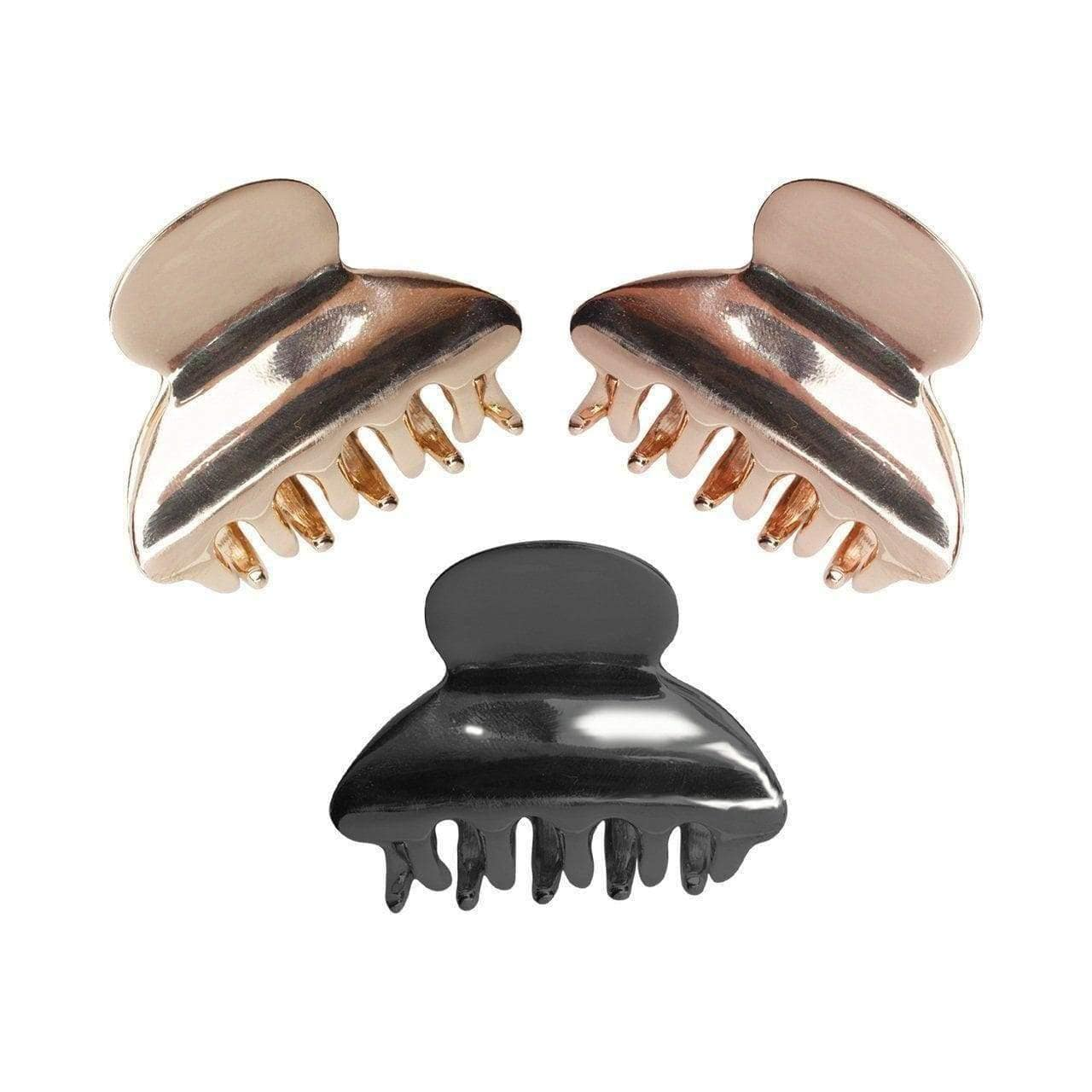 Mini Round Claw Clips 3pc - KITSCH