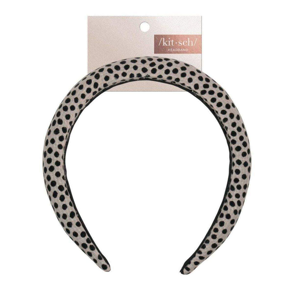 Padded Velvet Headband - Dot - KITSCH