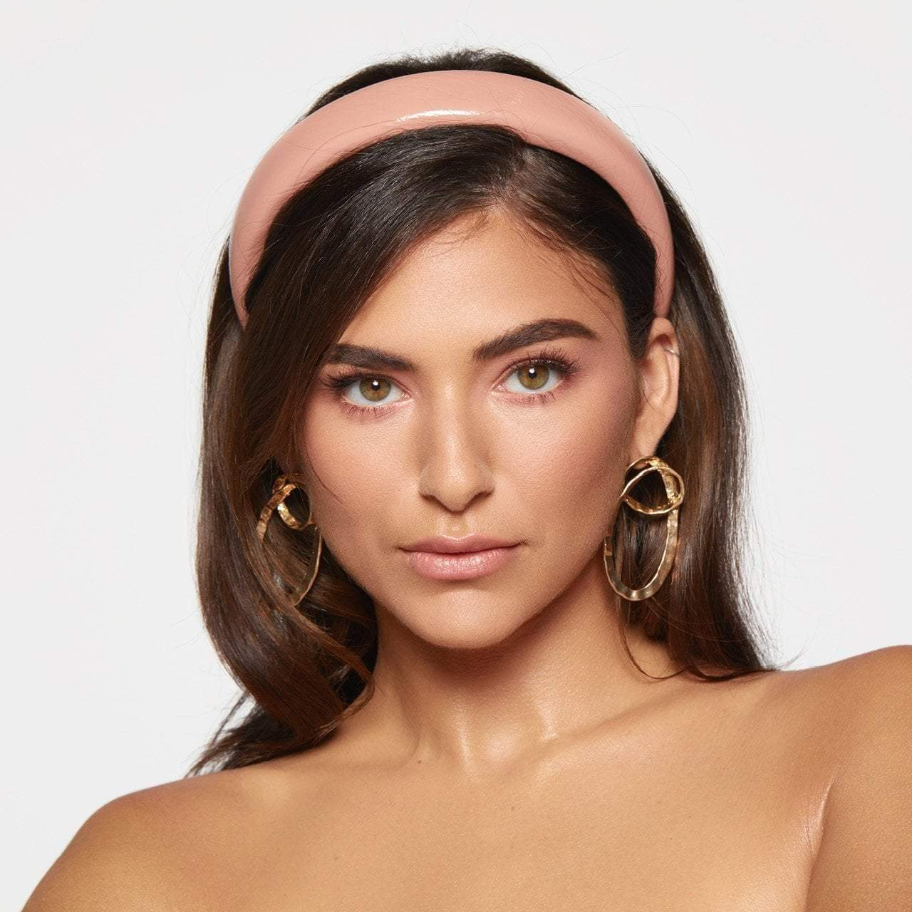 Patent Padded Headband - Blush - KITSCH