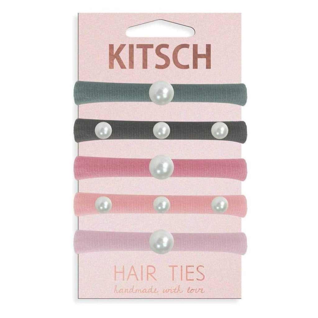 Pearl Hair Ties- Blush/Mauve - KITSCH
