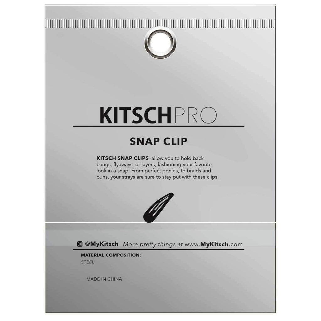 PRO Snap Hair Clips, 10 Count (Black) - KITSCH