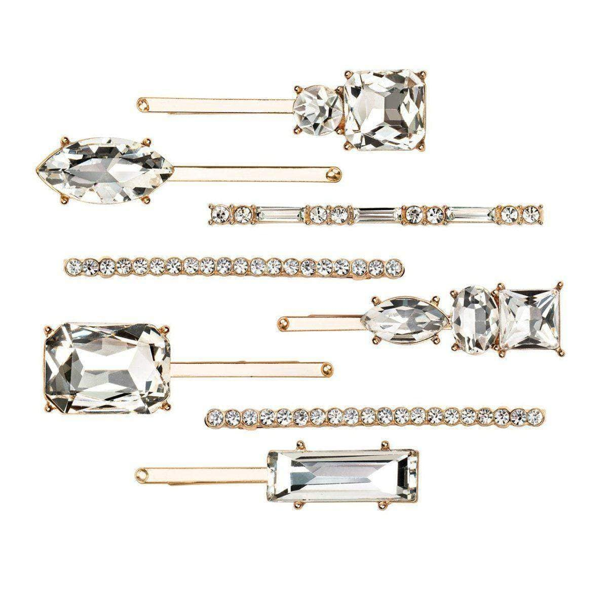 Rhinestone Stacker 8pc Set - Gold - KITSCH