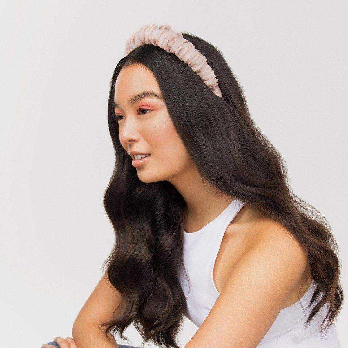 Ruched Chiffon Headband - Blush - KITSCH