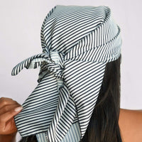 Satin Multiway Sleep Scarf in Stripe - KITSCH