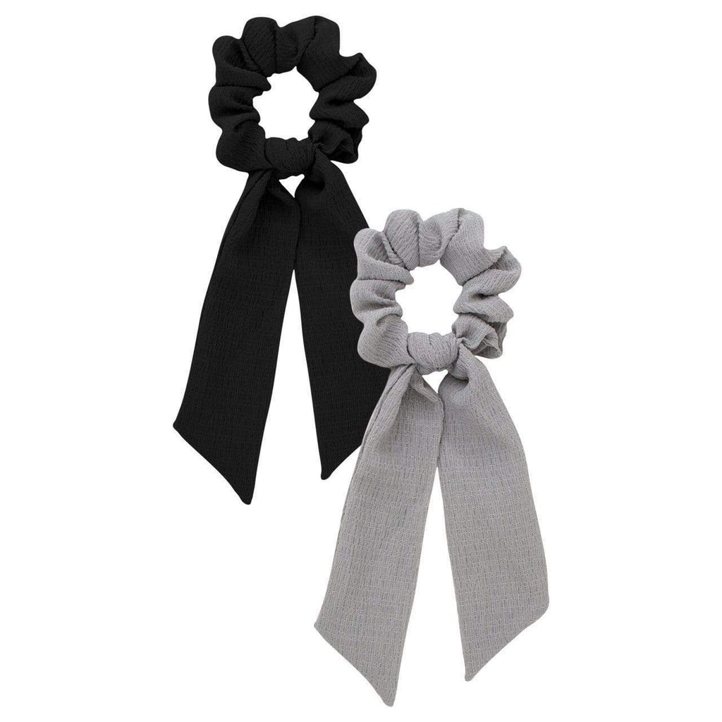 Scarf Scrunchies Black /Gray - KITSCH