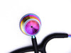 Heart+Sound Solutions Signature Series Stethoscope Matte Black X Rainbow - Heart+Sound Solutions
