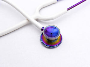 Heart+Sound Solutions Signature Series Stethoscope Rainbow X Matte White - Heart+Sound Solutions