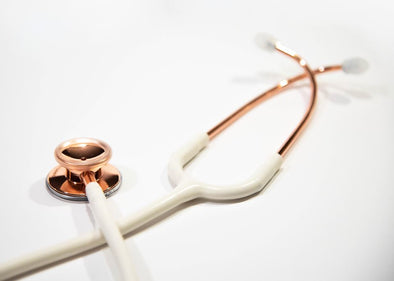 Heart+Sound Solutions Signature Series Stethoscope Rose Gold/ Matte White - Heart+Sound Solutions