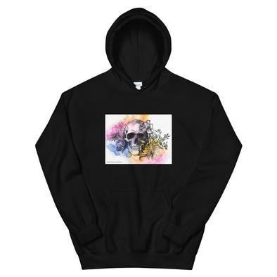 Heart+Sound Solutions Skull Watercolor Hoodie - Heart+Sound Solutions