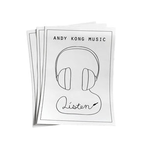 "Andy Kong ""Listen"" Sticker 3-Pack"