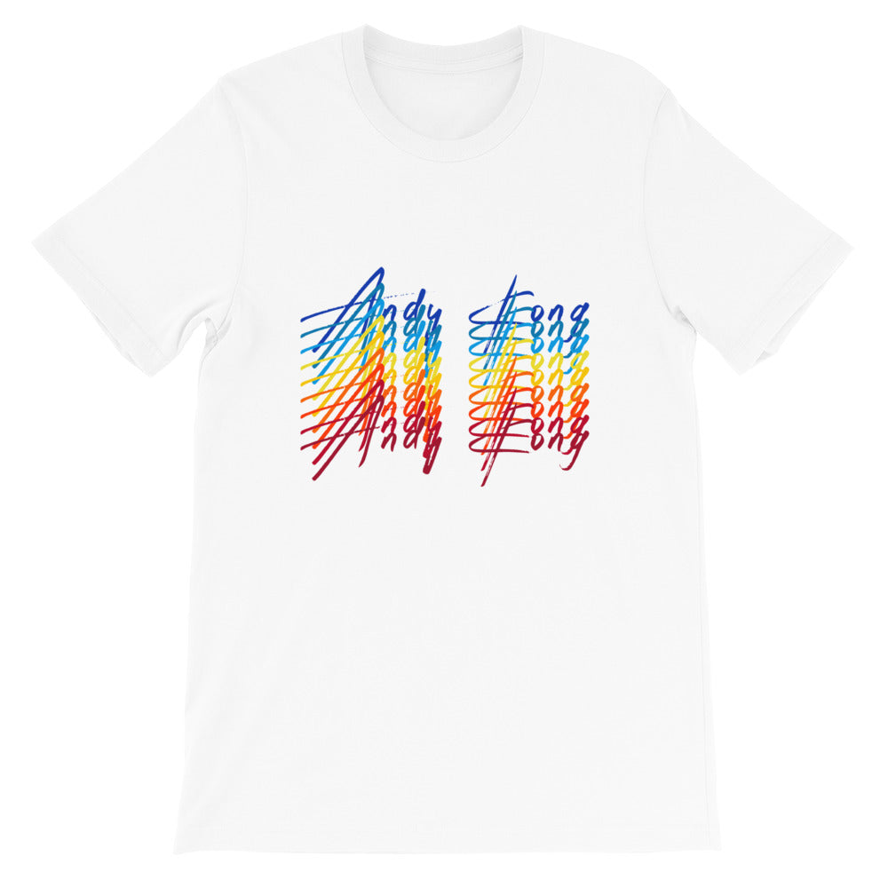 Electric Rainbow Tee - White