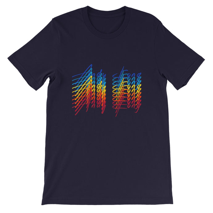 Electric Rainbow Tee - Navy Blue