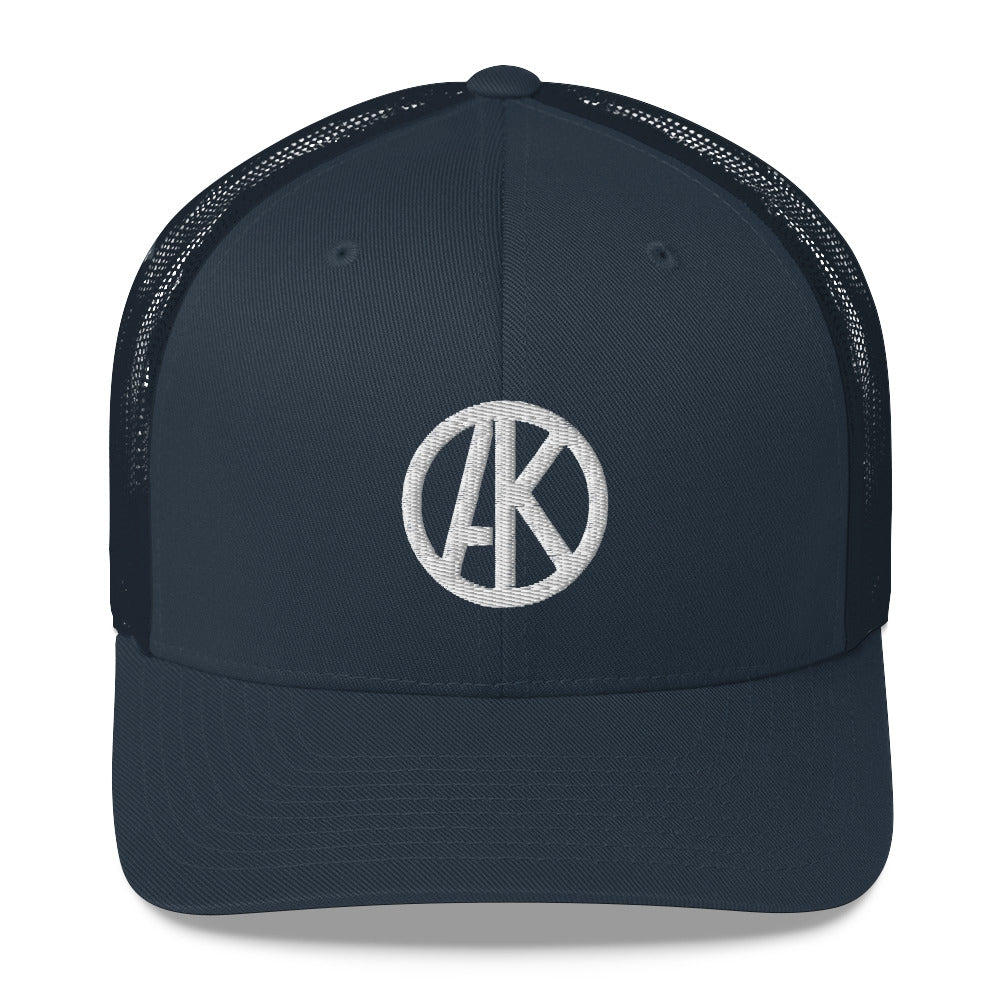 Mesh Back Trucker Cap - Navy Blue