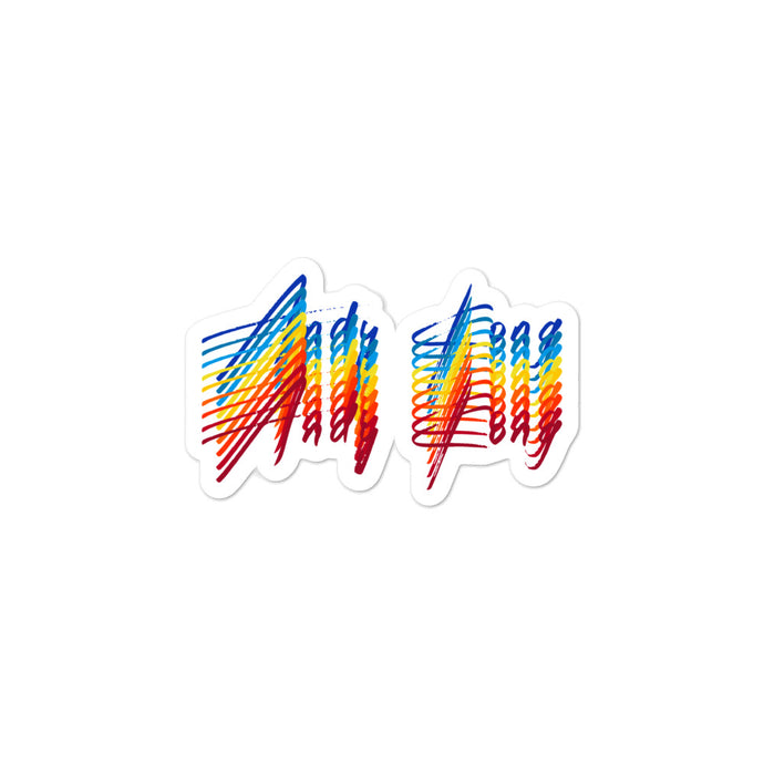 Electric Rainbow Sticker