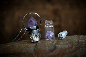Amethyst - Crystal Keepsake Vial