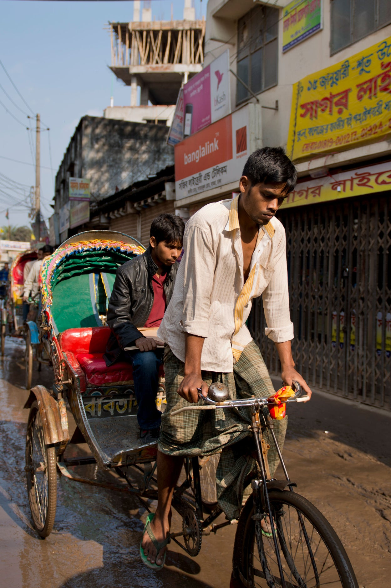 A rickshaw enables a dad to earn an income for years to come.