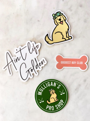 Mulligan's Pro Shop Sticker 4 Pack