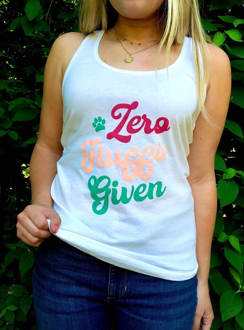 'Zero Fluffs Given' Tank Top