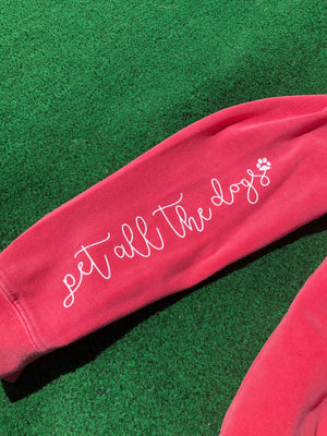 'Pet All The Dogs' Zip-Up Hoodie