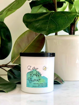 'Zero Fluffs Given' 10 oz. Soy Candle