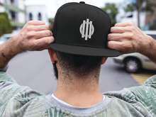 Load image into Gallery viewer, White Logo Snapback Hat Solid