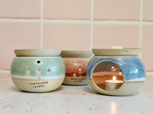 Load image into Gallery viewer, Handmade Ceramic Oil Burner (or Soy Melts Warmer) - This is not only to enjoy the aromatherapy but also to add a beautiful touch at your place!