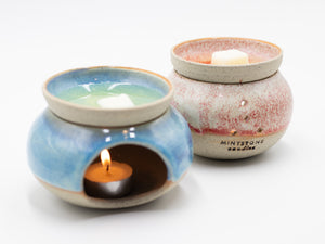 Handmade Ceramic Oil Burner (or Soy Melts Warmer) - This is not only to enjoy the aromatherapy but also to add a beautiful touch at your place!