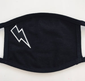 Lightning Bolt Mask in Black, White or Grey