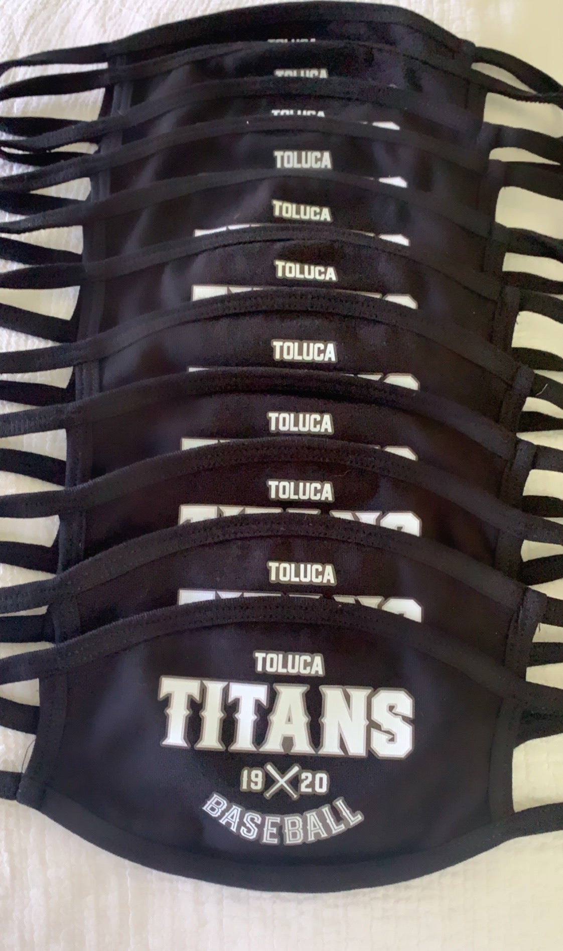 Toluca Titans Custom Mask Adult & Youth Sizes