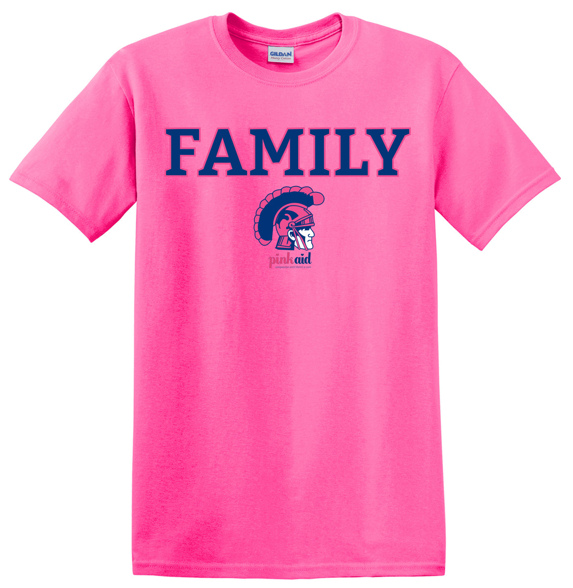 SAMPLE PinkAid WHS Athletics FAMILY T