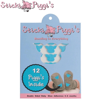 StickiPiggi's | Blue Double Sided Infant Shoe Adhesives baby accessory StickiPiggi's™️ Infant Shoe Adhesives