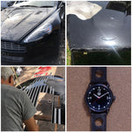 Storm Black Watch, 42mm, made from Aston Martin Rapide parts