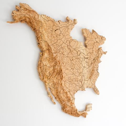 Elevated Wood Working Wood Map USA