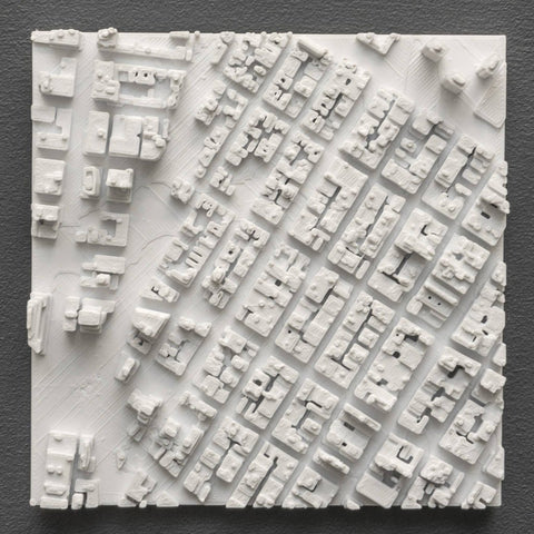 Microscape Manhatten 3D print raised relief map