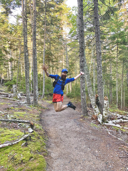 Trail running in Acadia National Park, Maine, 2019