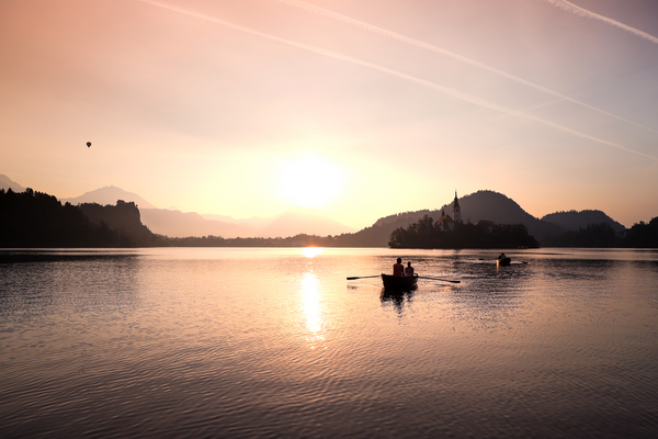 Sunrise on lake Bled, one of the photography experience, you can do with me