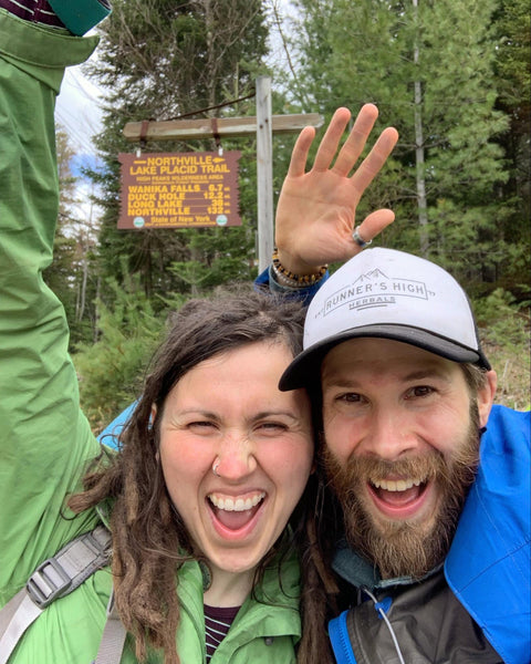 Erik & Ciara, May 2019, Northern Terminus - Northville Placid Trail, Adirondacks, NY; Nine days, 153 miles