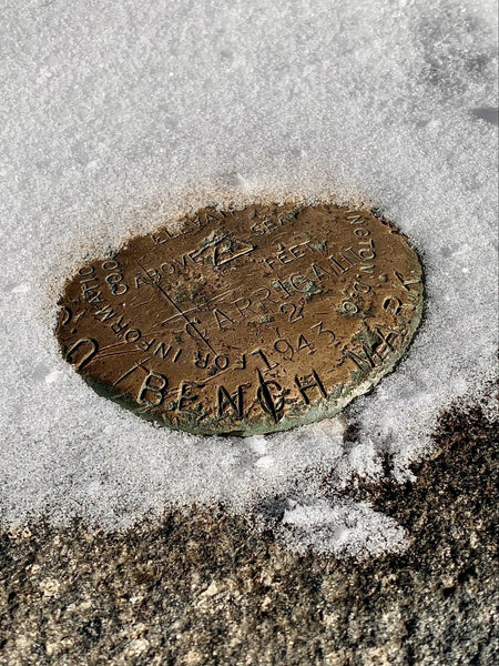 USGS survey marker - Mount Carrigain, 2019
