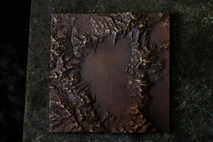 Lake Tahoe Bronze Relief Map - Warm Patina