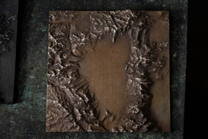 Lake Tahoe Bronze Relief Map - Light/Natural Patina