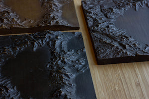 Lake Tahoe Bronze Relief Map - Dark Patina