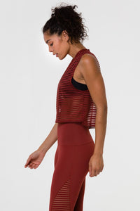 Edge Tank Pinecone Stripe Mesh