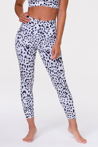 High Rise Basic Midi White Cheetah