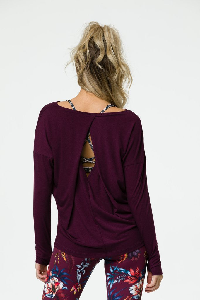 Diamond Back Top Burgundy